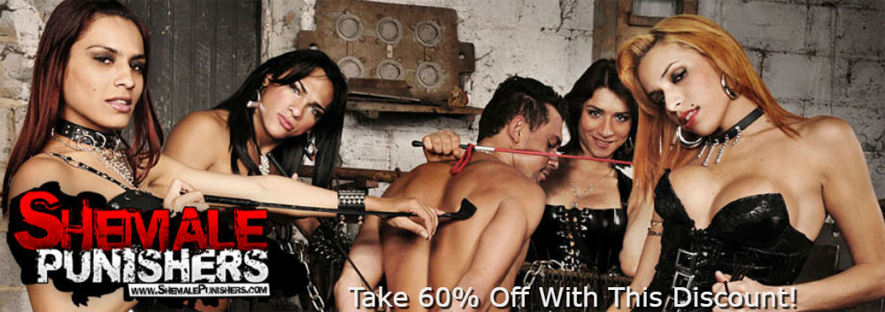 Save $14.98 with our 60% off Shemale Punishers Discount!